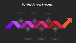 접힌 화살표 프로세스 다이어그램