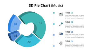 3D Pie 그래프형 다이어그램 (Music)