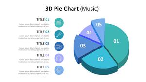 3D 원형 그래프 Diagram (Music)