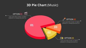 입체 원형 그래프 Diagram (Music)