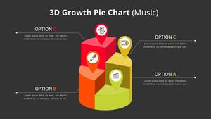 3D 원형 성장 Graph 다이어그램 (Music)
