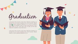 졸업 (Graduation) 일러스트 피피티 배경