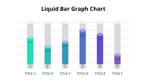 액체 Bar 그래프형 다이어그램
