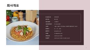 (면요리) 표준 사업계획서_음식점업