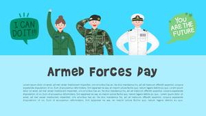 국군의 날 (Korea) 일러스트 피피티 템플릿