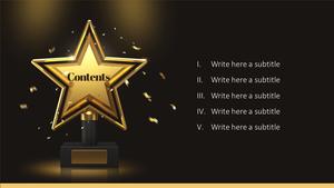 어워드 Awards (시상식) 피피티 배경