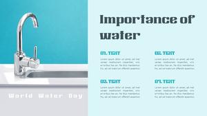 세계 물의 날 (World Water Day) 배경 템플릿