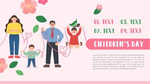 어린이날 배경 PPT 템플릿 (가족, 아동)