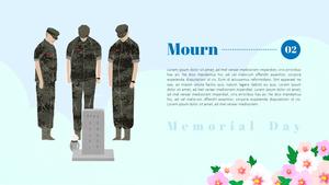 현충일 (Memorial Day) PPT 배경템플릿
