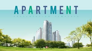 아파트 (건설) 배경 템플릿