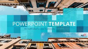 도심 속 하늘 (건축) Powerpoint 배경 - 와이드