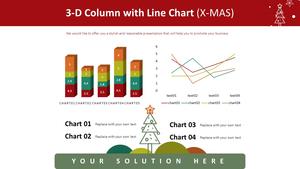 3D 세로막대형 & 꺾은선형 혼합차트 (X-MAS)