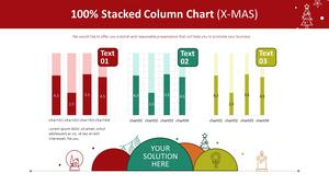 100% 누적 세로막대형 Chart (X-MAS)