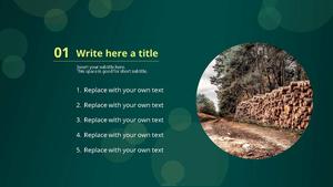 벌목장 파워포인트 디자인 (토목, 나무, 자연)