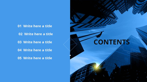 비즈니스 건축물(빌딩) PPT 표지