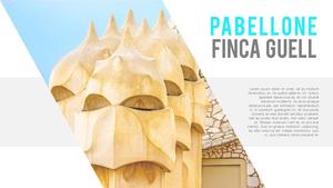 가우디 건축양식 PPT템플릿