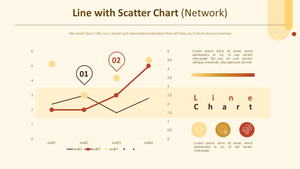 꺾은선형 & 거품 Scatter 혼합차트 (네트워크)