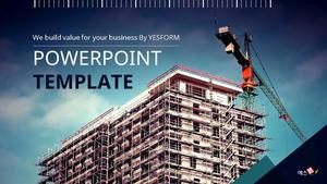 건물 건축 Powerpoint 배경 (16:9)