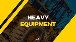 중장비 (Heavy Equipment) 와이드 ppt