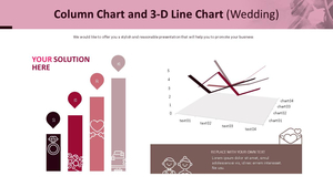 세로막대 & 3D 꺾은선형 혼합 Chart (웨딩)