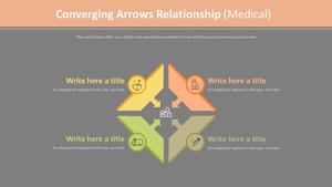 모인화살표 관계형 다이어그램 (의료)