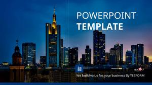 고층 빌딩의 야경 (건축) Powerpoint 배경