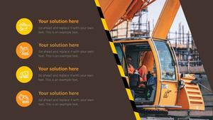 건설 장비 (건축) PPT 배경템플릿 - 와이드