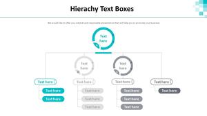 계층구조형 Text 박스 다이어그램