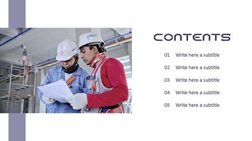 건설업 (건축) PPT 배경템플릿 - 와이드 - 섬네일 2page