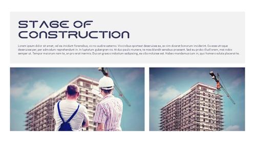 건설업 (건축) PPT 배경템플릿 - 와이드 - 섬네일 4page
