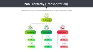 아이콘 계층구조형 다이어그램 (운송)