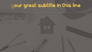 주택 건축 및 설계 Powerpoint 배경 (16:9)
