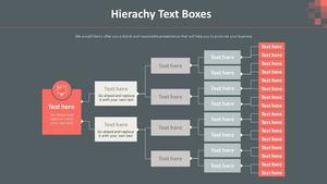 텍스트 Boxes 계층구조형 Diagram