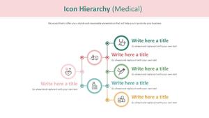 아이콘 계층구조형 다이어그램 (의료)