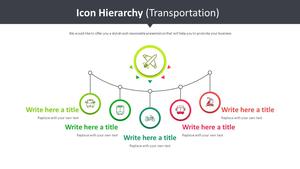 Icon 계층구조형 Smart Art (운송)