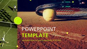 테니스 (스포츠) 피피티 배경 - 와이드