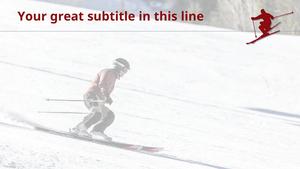 스키 (스포츠) 파워포인트 배경화면 - 와이드