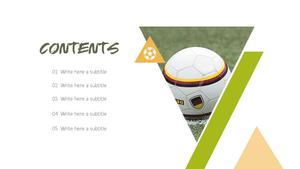 축구선수(Soccer) 배경 PPT 템플릿