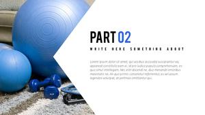 피트니스 (스포츠) PPT 표지 - 와이드