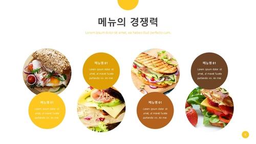 (샌드위치 전문점) 음식업점 창업 사업계획서 - 섬네일 9page