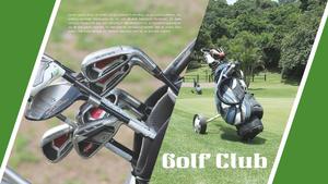 골프게임 (스포츠) 배경 PPT 템플릿