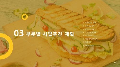 (샌드위치 전문점) 음식업점 창업 사업계획서 - 섬네일 13page