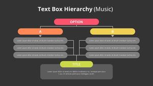 Text Box 계층구조형 다이어그램 (Music)