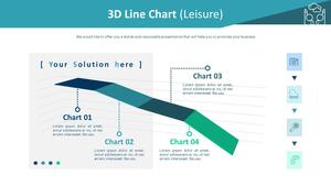 3D 입체 꺾은선형 차트 (여가활동)