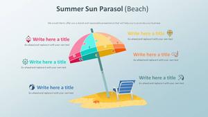 여름 파라솔 Infographic (해변)
