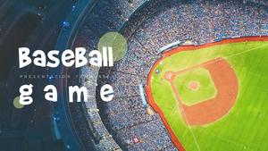 야구경기 (스포츠) 피피티 테마 템플릿