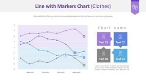 표식이 있는 꺾은선형 Chart (의류)