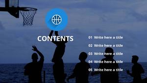농구 기술 (스포츠) PPT 표지 - 와이드