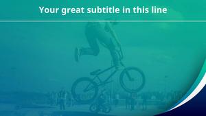 미니벨로 자전거 (스포츠) 피피티 배경