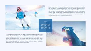 Winter Sports (겨울, 스포츠) PPT 템플릿